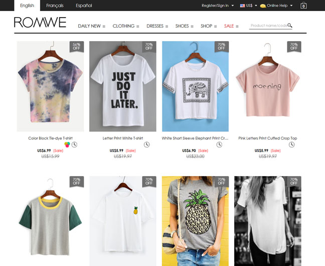 romwe-clothing-store